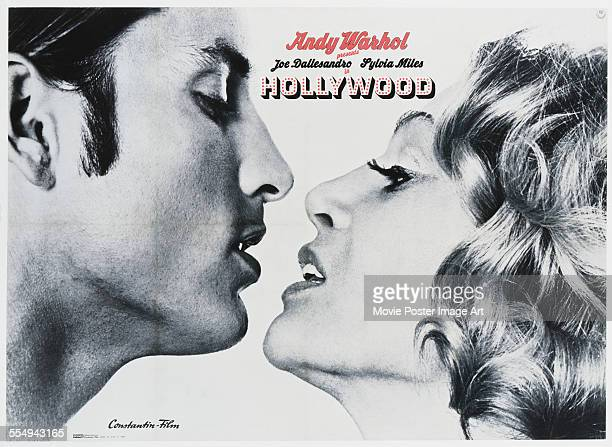 A poster for Paul Morrissey's 1972 comedy 'Hollywood' starring Joe Dallesandro and Sylvia Miles
