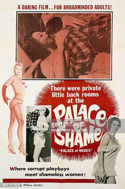 A poster for Pierre Méré's 1954 crime film 'Palace of Shame'