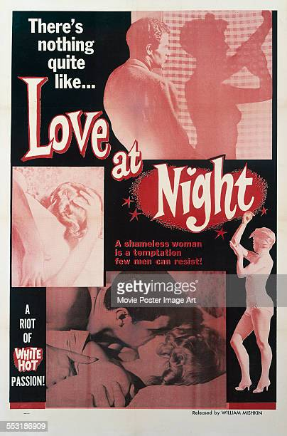 A poster for Pierre Méré's 1955 crime film 'Love at Night'