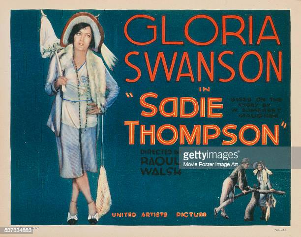 A poster for Raoul Walsh's 1928 drama 'Sadie Thompson' starring Gloria Swanson