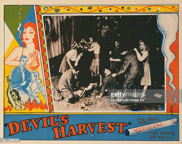 A poster for Ray Test's 1942 drama 'Devil's Harvest'