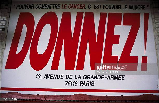 Poster For Research on Cancer in Paris France on June 13 1988
