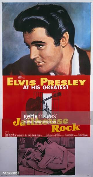 A poster for Richard Thorpe's 1957 drama 'Jailhouse Rock' starring Elvis Presley
