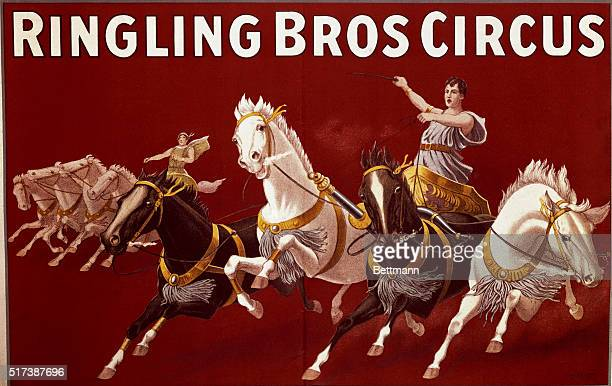 Poster for Ringling Brothers Circus Chariot Rider Undated color illustratoin BPA