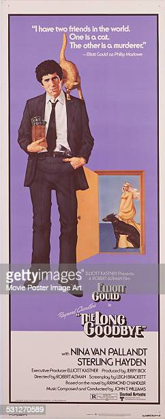 A poster for Robert Altman's 1973 crime film 'The Long Goodbye' starring Elliott Gould