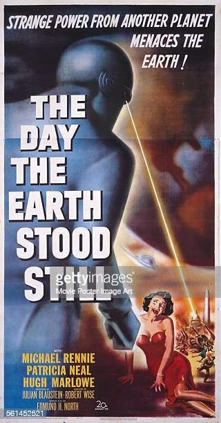 A poster for Robert Wise's 1951 sciencefiction film 'The Day the Earth Stood Still'