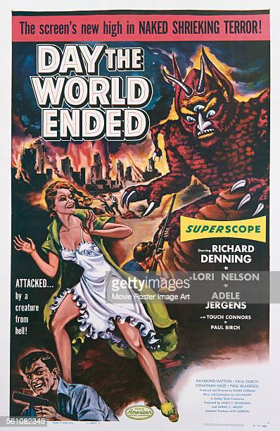 A poster for Roger Corman's 1955 horror film 'Day the World Ended'