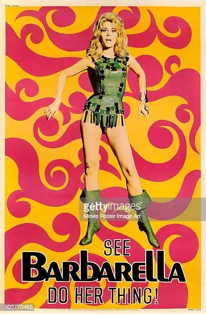 A poster for Roger Vadim's 1968 fantasy comedy 'Barbarella' starring Jane Fonda