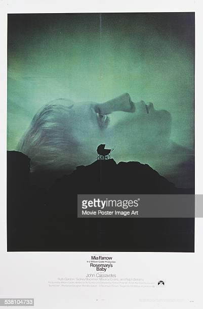 A poster for Roman Polanski's 1968 drama 'Rosemary's Baby' starring Mia Farrow