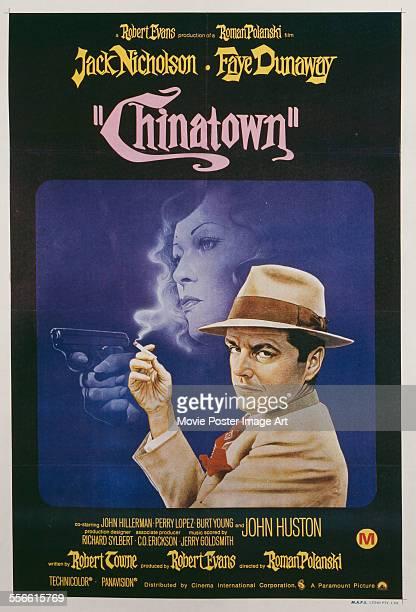 Poster for Roman Polanski's 1974 drama 'Chinatown' starring Jack Nicholson and Faye Dunaway.