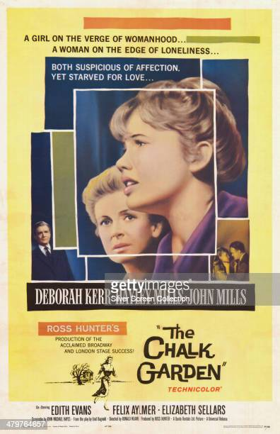 A poster for Ronald Neame's 1964 drama 'The Chalk Garden' starring Deborah Kerr and Hayley Mills