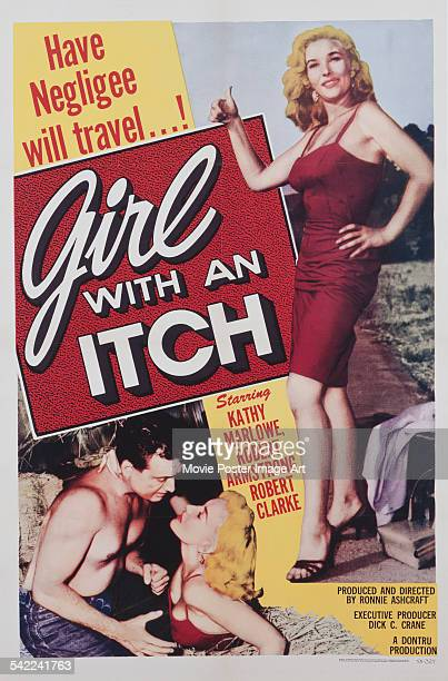 A poster for Ronald V Ashcroft 's 1958 drama 'Girl with an Itch' starring Kathy Marlowe