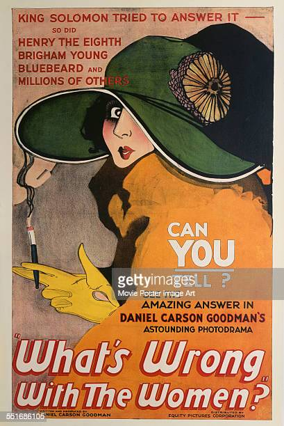 A poster for Roy William Neill's 1922 drama 'What's Wrong with the Women'