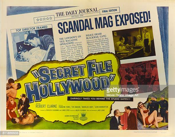 A poster for Rudolph Cusumano's 1962 drama 'Secret File Hollywood'
