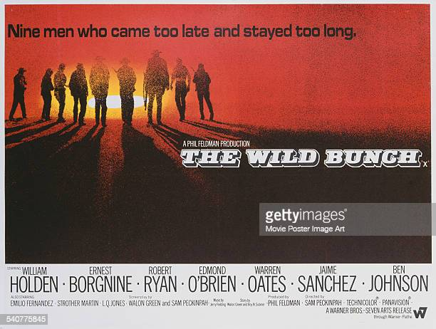 A poster for Sam Peckinpah's 1969 western 'The Wild Bunch'