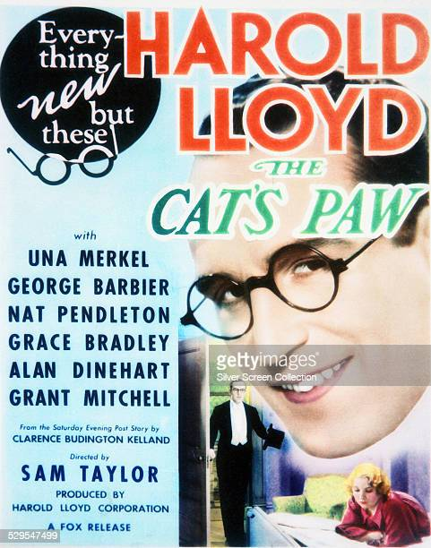 A poster for Sam Taylor's 1934 comedy 'The Cat'sPaw' starring Harold Lloyd