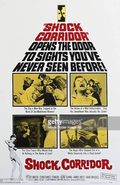 A poster for Samuel Fuller's 1963 drama 'Shock Corridor'