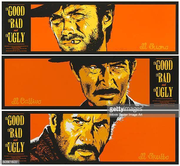 A poster for Sergio Leone's 1966 western 'Il Buono il Brutto il Cattivo' starring Clint Eastwood Eli Wallach and Lee Van Cleef