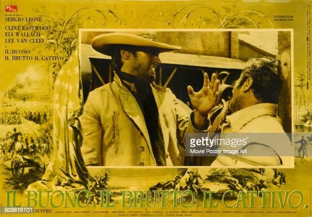 Poster for Sergio Leone's 1966 western 'Il Buono, il Brutto, il Cattivo' starring Clint Eastwood and Eli Wallach.