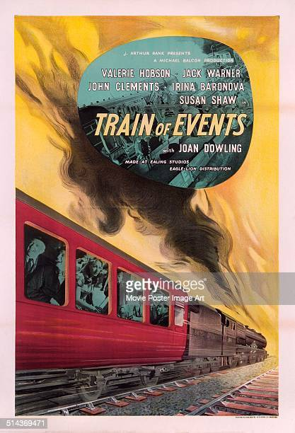 A poster for Sidney Cole Charles Crichton and Basil Dearden's 1949 drama 'Train of Events'