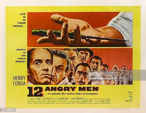 A poster for Sidney Lumet's 1957 drama '12 Angry Men' starring Henry Fonda