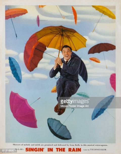 A poster for Stanley Donen's 1952 musical 'Singin' in the Rain' starring Gene Kelly