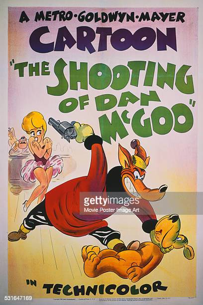 A poster for Tex Avery's 1945 animation film 'The Shooting of Dan McGoo'