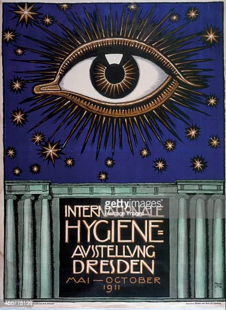 Poster for the 1911 First International Hygiene Exhibition 1911 Artist Stuck Franz Ritter von
