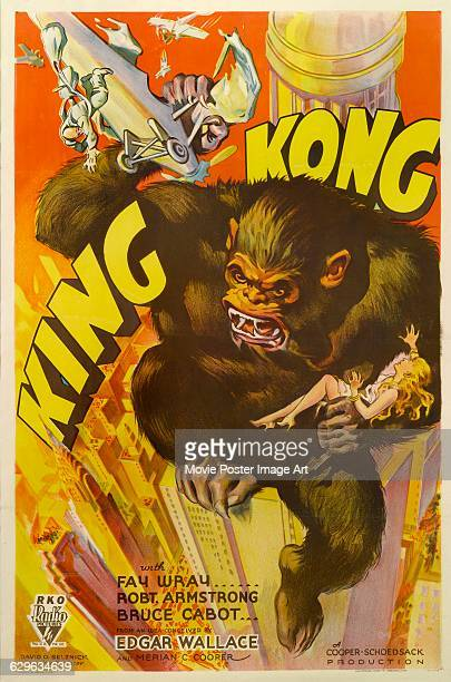 A poster for the 1933 RKO Radio Pictures film 'King Kong'
