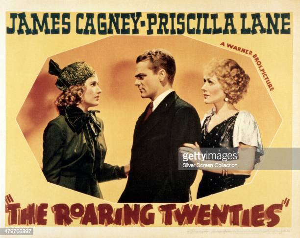 A poster for the 1939 crime thriller 'The Roaring Twenties' directed by Raoul Walsh and starring Priscilla Lane James Cagney and Gladys George