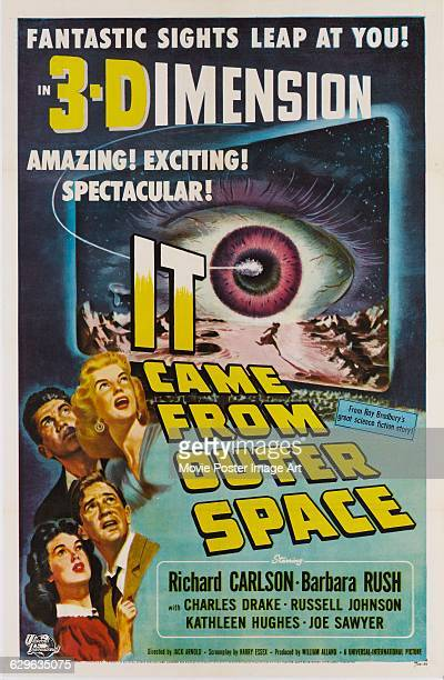 A poster for the 1953 3D science fiction film 'It Came from Outer Space' produced by UniversalInternational The artwork is by Joseph Smith