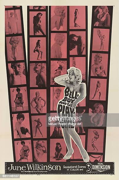 A poster for the 1962 comedy film 'The Bellboy and the Playgirls' starring actress June Wilkinson and directed by Francis Ford Coppola
