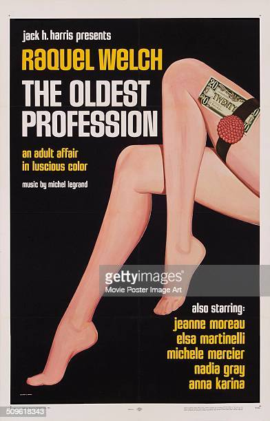 A poster for the 1967 comedy 'The Oldest Profession'