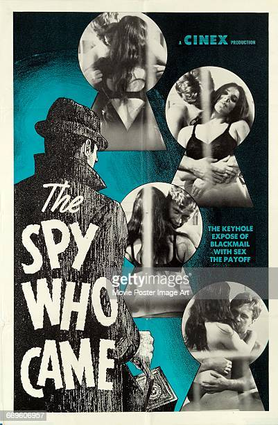 Image contains suggestive contentA poster for the Cinex exploitation film 'The Spy Who Came' 1969 The title parodies the 1965 film 'The Spy Who Came...