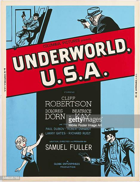Poster for the Columbia Pictures crime film 'Underworld U.S.A.', written and directed by Samuel Fuller, 1961.