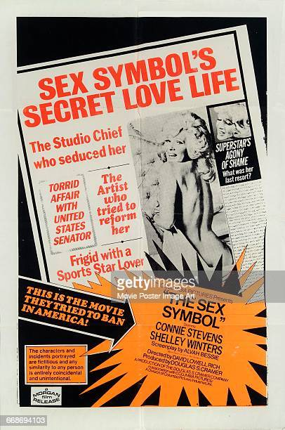 A poster for the Columbia Pictures film 'The Sex Symbol' loosely based on the life of actress Marilyn Monroe 1974 The film stars Connie Stevens and...