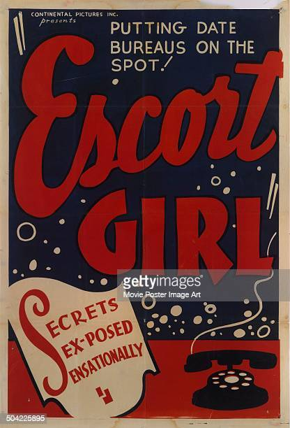 A poster for the Continental Pictures movie 'Escort Girl' 1941