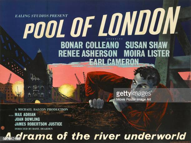 Poster for the Ealing Studios movie 'Pool of London', 1951.