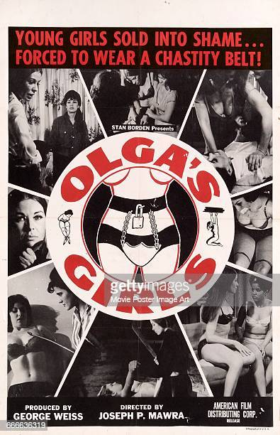 Image contains suggestive contentA poster for the exploitation film 'Olga's Girls' written and directed by Joseph P Mawra 1964
