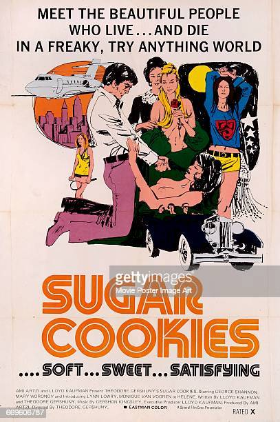 Image contains suggestive contentA poster for the exploitation film 'Sugar Cookies' aka 'Love Death' or 'Love Me My Way' directed by Theodore...