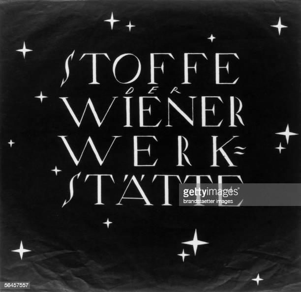 Poster for the fabric division of the Wiener Werkstaette By Dagobert Peche 1917 [Plakat fuer die Stoffabteilung der Wiener Werkstaette Von Dagobert...