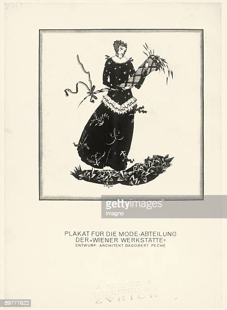 Poster for the fashion department of the Wiener Werkstaette Designed by Dagobert Peche Lithograph Around 1918