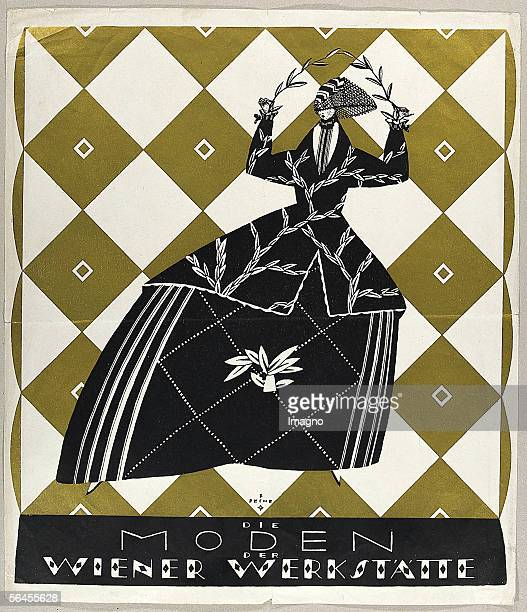Poster for the fashion department of the Wiener Werkstaette Die Moden der Wiener Werkstaette Designs of the Wiener Werkstaette Coloured lithgraph...