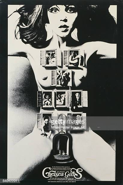 A 1970 poster for the first ever British screenings of Andy Warhol and Paul Morrissey's 1966 experimental underground film 'Chelsea Girls' The model...