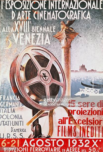 Poster for the First Venice Film Festival for the 18th biennial of Venice Italy, 20th century.