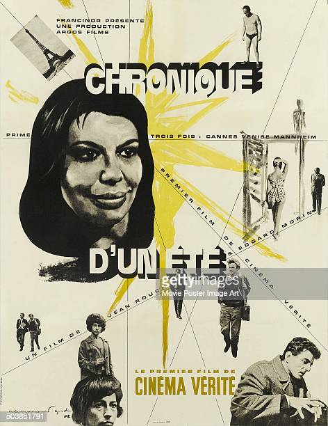 A poster for the French documentary 'Chronique d'un été' directed by Edgar Morin and Jean Rouch 1961 Rouch created the genre of cinéma vérité