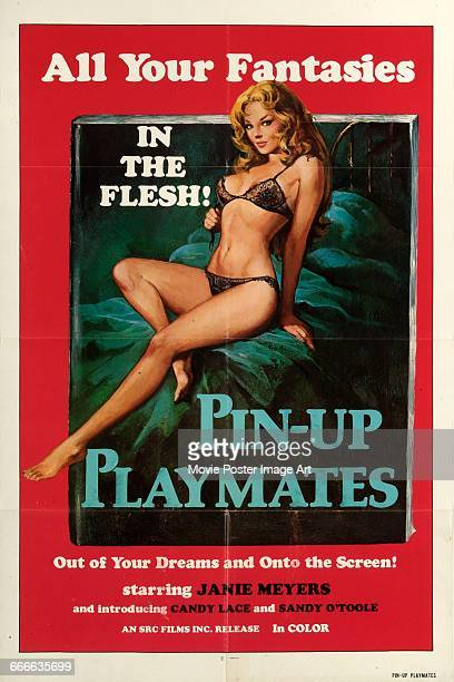 Image contains suggestive contentA poster for the German pornographic film 'PinUp Playmates' aka 'Swedish Massage Parlour' 1972