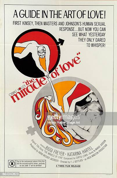 Image contains suggestive contentA poster for the German pornographic film 'The Miracle of Love' based on the works of German sex educator Oswalt...