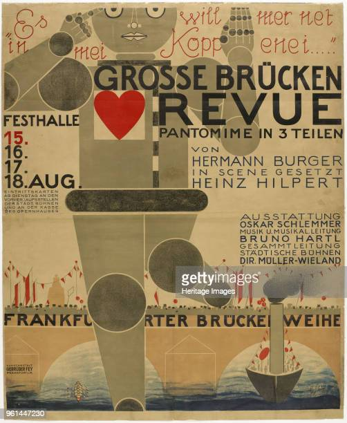 Poster for the Great bridge revue 1926 Found in the Collection of BauhausMuseum Weimar