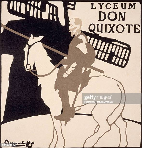 Poster for the 'Lyceum Don Quixote' by the Beggarstaff Brothers